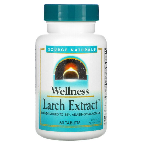 Wellness, Larch Extract, 60 Tablets