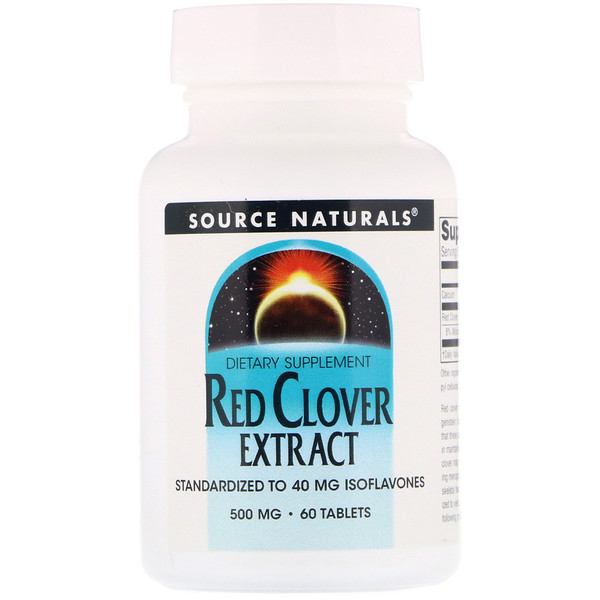 Red Clover Extract, 500 mg, 60 Tablets