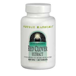 Source Naturals, Экстракт красного клевера, 500 мг, 60 таблетки