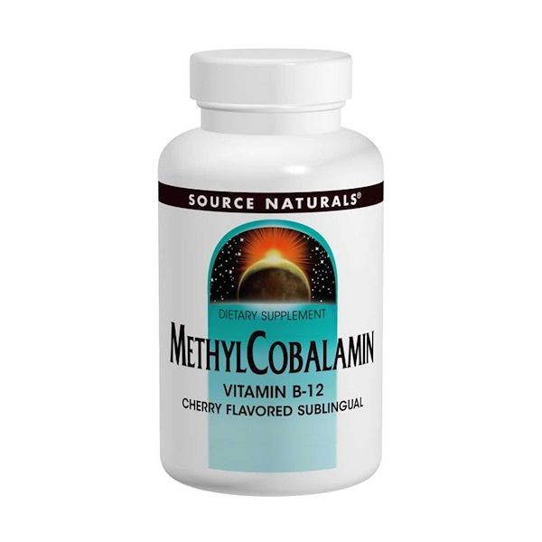 Source Naturals, MethylCobalamin, Cherry Flavored, 5 mg, 60 Tablets