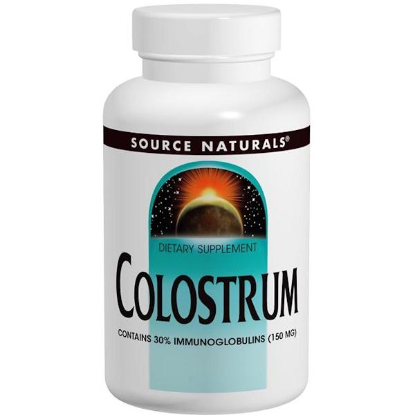 Source Naturals, Colostrum, 500 mg, 120 Capsules (Discontinued Item)