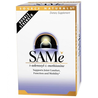 Source Naturals,  SAM-e (S-Adenosyl-L-Methionine), 200 mg, 60 Enteric Coated Tabletten