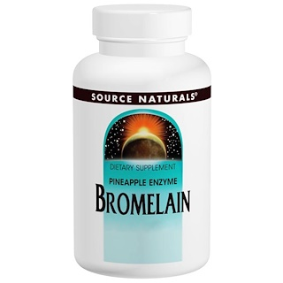Source Naturals, Bromelain, 2000 GDU/g, 500 mg, 60 Tabletten