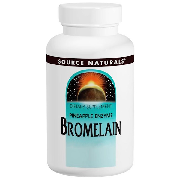 Source Naturals, Bromelain, 2000 GDU/g, 500 mg, 60 Tablets