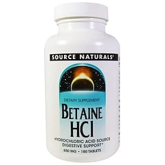 Source Naturals, Betain HCL, 650 mg, 180 Tabletten