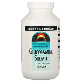 Source Naturals, Glucosamine Sulfate Powder, Sodium Free, 16 oz (453.6 g)