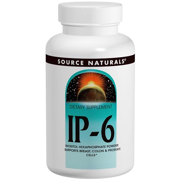 Source Naturals, IP-6, Inositol Hexaphosphate Powder, 14.11 oz (400 g) (Discontinued Item)