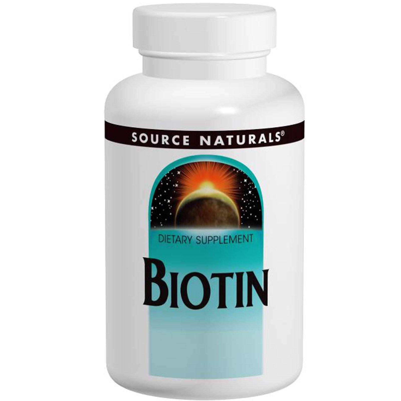 Source Naturals, Биотин, 5 мг, 120 таблеток
