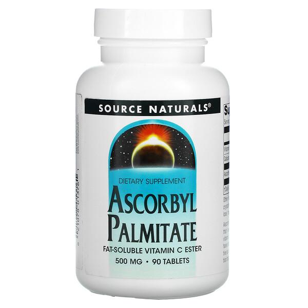 Ascorbyl Palmitate, 500 mg, 90 Tablets