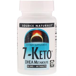 Source Naturals, 7-Keto, DHEA Metabolite, 50 mg, 60 Tablets