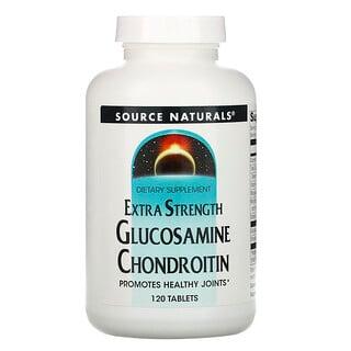 Source Naturals, 글루코사민 콘드로이틴, 엑스트라 스트렝스, 120정