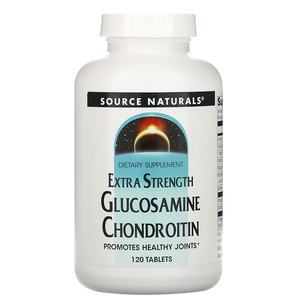 Source Naturals, Glucosamine Chondroitin, Extra Strength, 120 Tablets