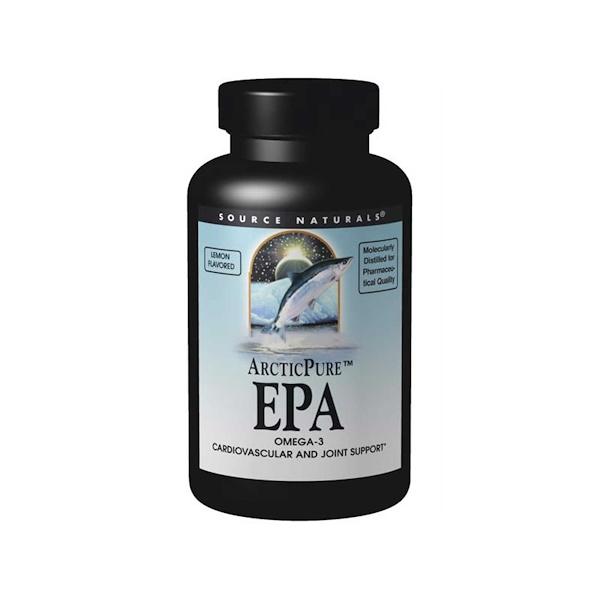 Source Naturals, ArcticPure EPA, Lemon Flavor, 500 mg, 60 Softgels (Discontinued Item)