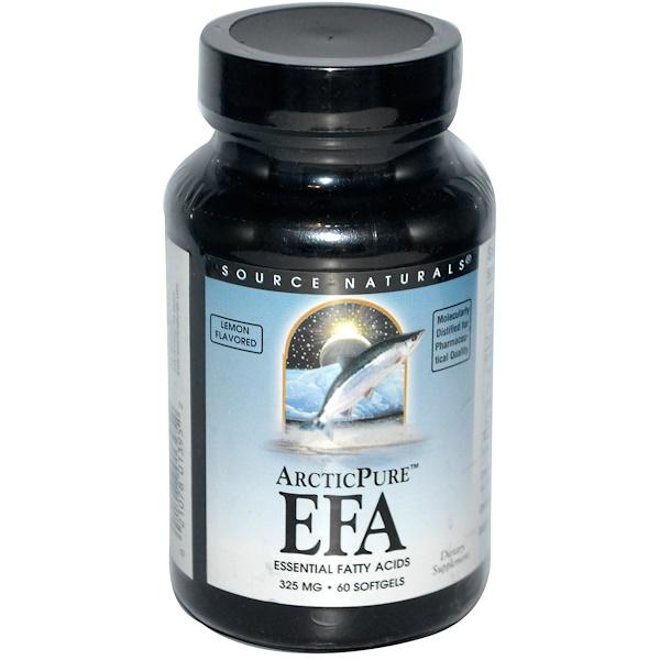 Source Naturals, ArcticPure, EFA, Lemon Flavored, 325 mg, 60 Softgels (Discontinued Item)