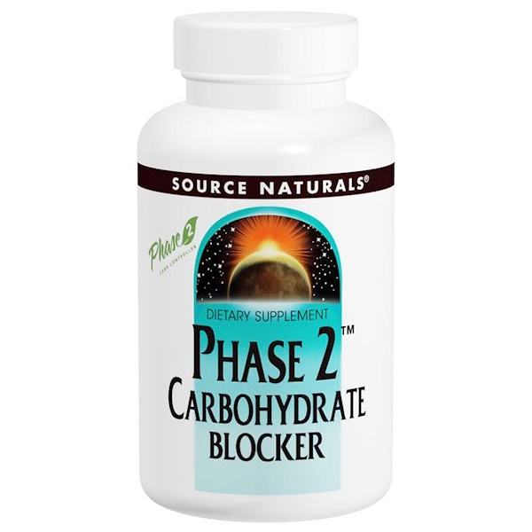 Source Naturals, Phase 2 Carbohydrate Blocker, 500 mg, 120 Wafers (Discontinued Item)