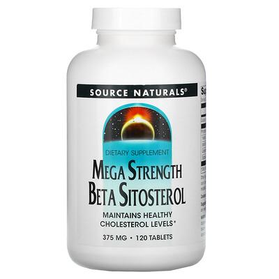 Купить Source Naturals бета-ситостерол усиленного действия, 375мг, 120таблеток