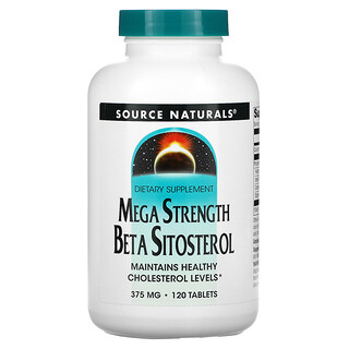 Source Naturals, Mega Strength Beta Sitosterol, 375 mg, 120 Tablets