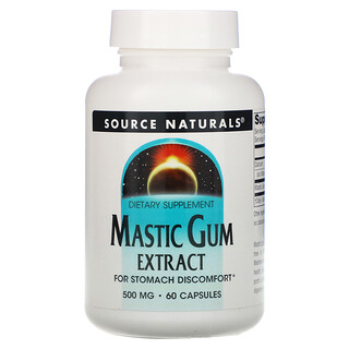 Source Naturals, Mastic Gum Extract, 500 mg, 60 Capsules