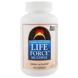 Source Naturals, Multinutriments force vitale, 180 capsules