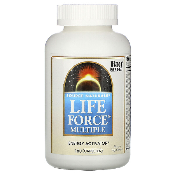 Source Naturals, Life Force Multiple, 180 כמוסות