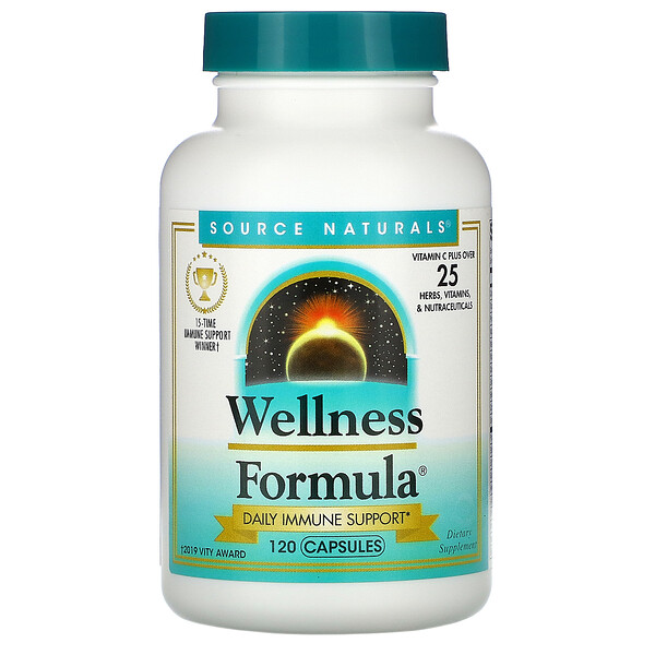 Source Naturals, Wellness Formula, 120 капсул