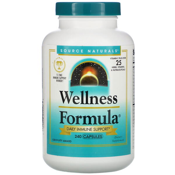 Source Naturals, Wellness Formula, Daily Immune Support, 240 Capsules