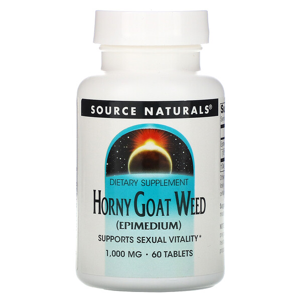 Horny Goat Weed, 1,000 mg, 60 Tablets