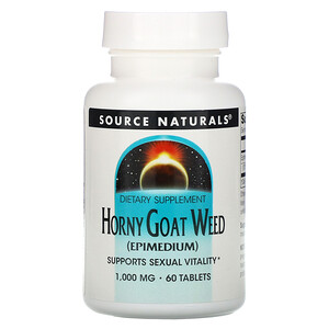 Сорс Начэралс, Horny Goat Weed, 1,000 mg, 60 Tablets отзывы
