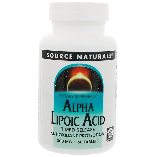 Source Naturals, Alpha Lipoic Acid, Timed Release, 300 mg, 60 Tablets