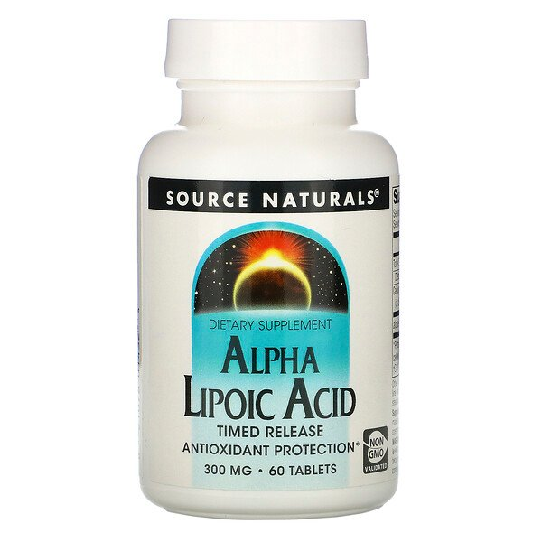Alpha Lipoic Acid, Timed Release, 300 mg, 60 Tablets