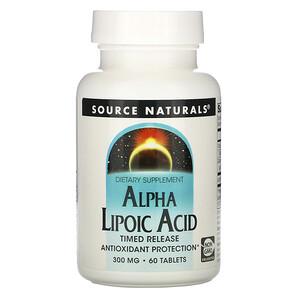 Сорс Начэралс, Alpha Lipoic Acid, Timed Release, 300 mg, 60 Tablets отзывы покупателей