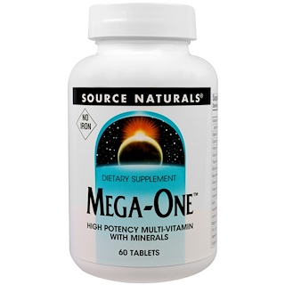 Source Naturals, Mega-One, No Iron, 60 Tablets
