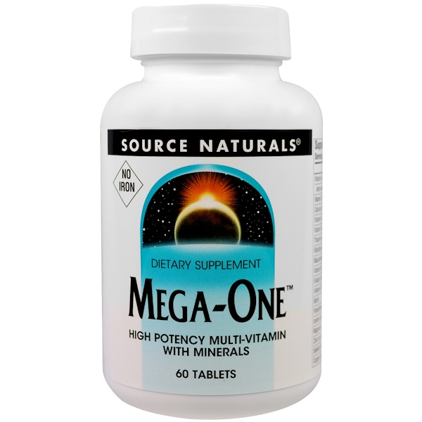 Mega-One, No Iron, 60 Tablets