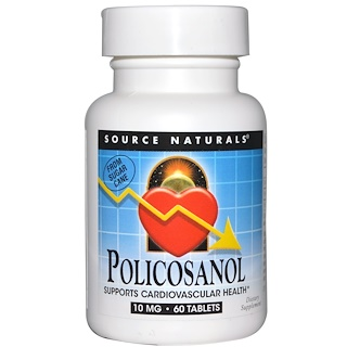 Source Naturals, Policosanol, 10 mg, 60 Tablets