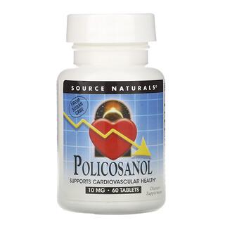 Source Naturals, Policosanol, 10 mg, 60 Tablets