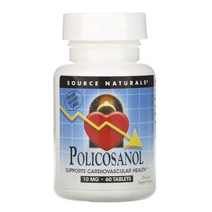 Сорс Начэралс, Policosanol, 10 mg, 60 Tablets отзывы покупателей