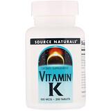 Отзывы о Source Naturals, Витамин K, 500 мкг, 200 таблеток