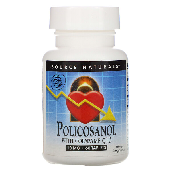 Source Naturals, Policosanol with Coenzyme Q10, 10 mg, 60 Tablets
