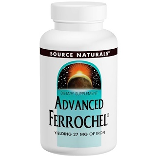Source Naturals, Advanced Ferrochel، 180 قرص