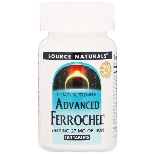 Source Naturals, Advanced Ferrochel, 180 таблеток