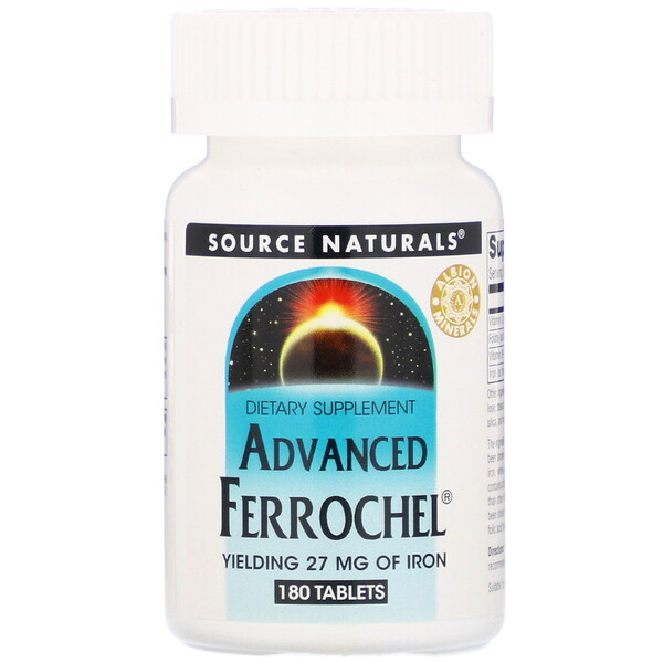 Source Naturals, Advanced Ferrochel, 180 Tablets