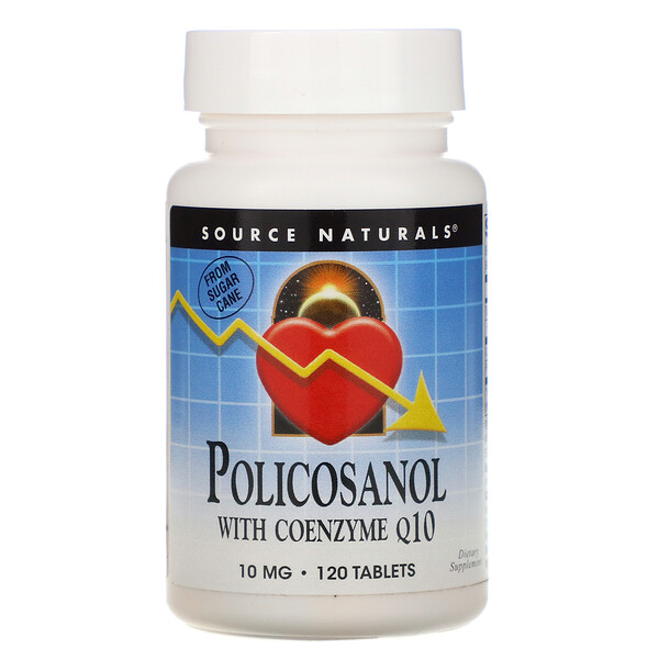 Source Naturals, Policosanol with Coenzyme Q10, 10 mg, 120 Tablets