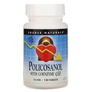 Сорс Начэралс, Policosanol with Coenzyme Q10, 10 mg, 120 Tablets отзывы покупателей