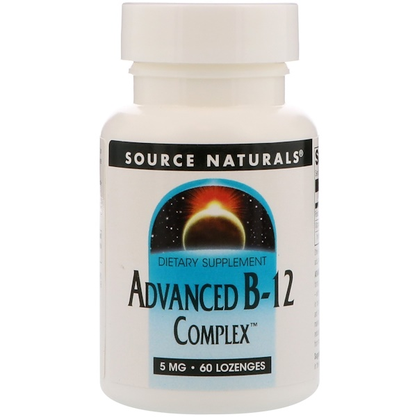 Source Naturals, Advanced B-12 Complex, 5 mg, 60 Lozenges