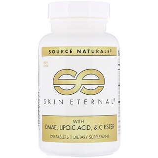 Source Naturals, Skin Eternal,含二甲氨基乙醇、硫辛酸和C酯,120片