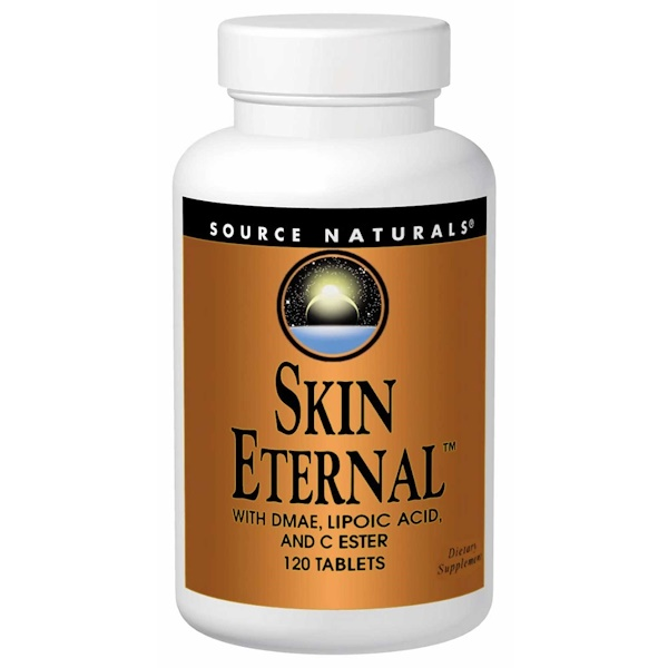 Source Naturals, Skin Eternal with DMAE, Lipoic Acid, and C Ester, 120 Tablets