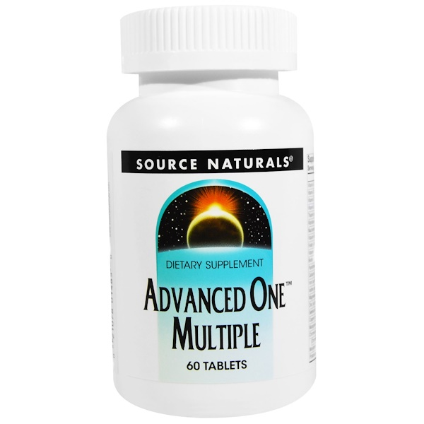 Source Naturals, Advanced One Multiple, 60 Tablets (Discontinued Item)