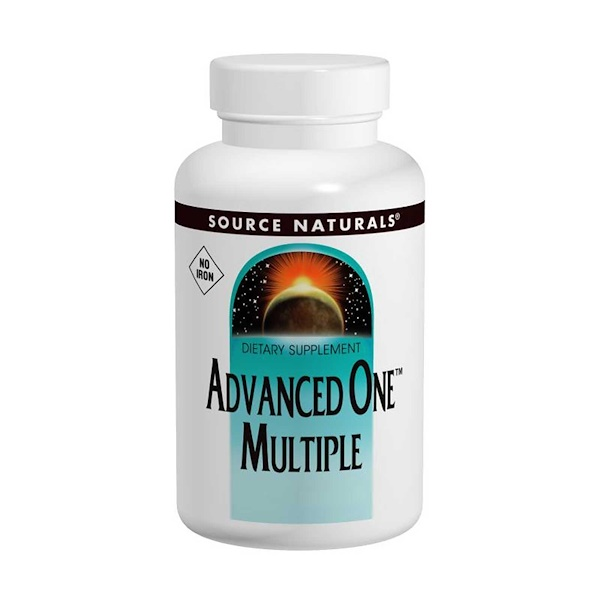 Source Naturals, Advanced One Multiple, No Iron, 60 Tablets (Discontinued Item)