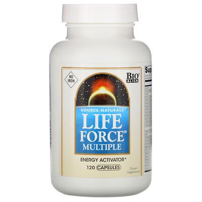 Source Naturals Мультивитамины Life Force, без железа, 120 капсул
