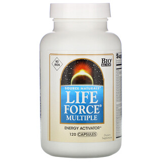 Source Naturals, Life Force Multiple, No Iron, 120 Capsules
